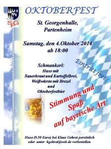 2014 Oktoberfest A3 Plakat V1